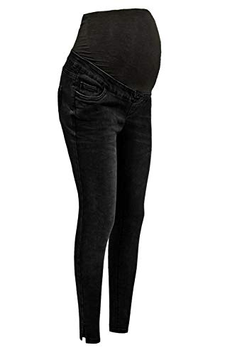 New Look or Ex-Highstreet Ladies Womens Blue Over Bump Maternity Skinny Stretch Jeans Jeggings Trousers Pants 1