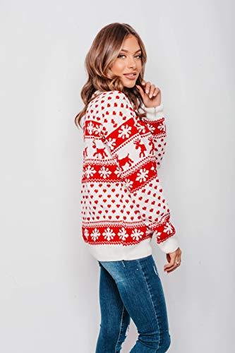 New Unisex Ladies Men Kids Christmas Jumper Reindeer Snowflakes Knitted Xmas Long Sweater Top 4