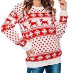 New Unisex Ladies Men Kids Christmas Jumper Reindeer Snowflakes Knitted Xmas Long Sweater Top 11