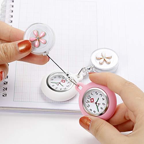 Nurse Fob Watch, Vintoney Retractable Clip-on Hanging Lapel Nurse Watch with Silicone Cover Brooch Badge Reel… 6