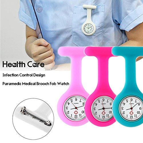 Nurse Watch Brooch, Silicone with Pin/Clip, Infection Control Design, Health Care Nurse Doctor Paramedic Medical Brooch… 4