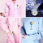 Nurses Fob Watch, Medical Fob Pocket Watches with Clip On Brooch Hanging for Men Women Doctor Nurses Paramedic Silver 23