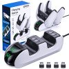 OIVO PS5 Controller Charger, Controller Charging Dock with 4 USB C Dongles and LED Strap for Sony Playstation 5, Fast… 9