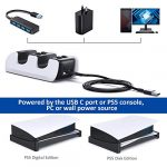 OIVO PS5 Controller Charger, Controller Charging Dock with 4 USB C Dongles and LED Strap for Sony Playstation 5, Fast… 22