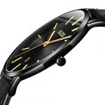 OLEVS Women Wrist Watches Ultra Thin 6.5mm Minimalist Business Dress Waterproof & Date & Leather Strap Slim Watches for… 18