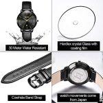 OLEVS Women Wrist Watches Ultra Thin 6.5mm Minimalist Business Dress Waterproof & Date & Leather Strap Slim Watches for… 23