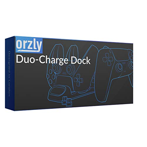 Orzly PS5 Controller Charging Station made for PlayStation 5 Console DualSense PS5 Controllers - Twin Docking Wireless… 5