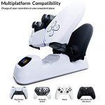 Orzly PS5 Controller Charging Station made for PlayStation 5 Console DualSense PS5 Controllers - Twin Docking Wireless… 21