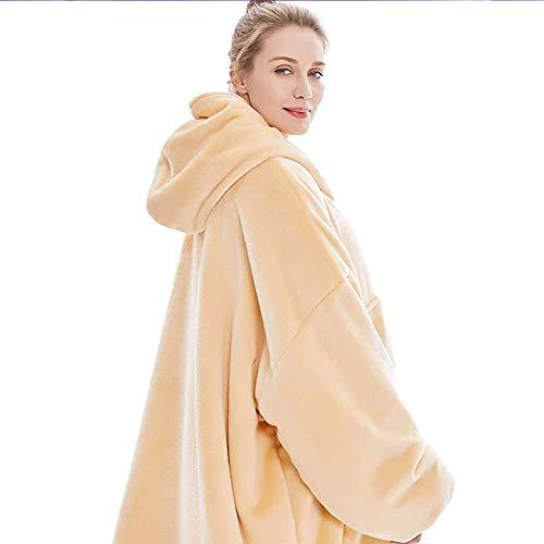 Oversized Hoodie Sweatshirt Blanket Super Soft Warm Comfortable Blanket Hoodie, One Size Fits All Men Women Girls, Boys 3