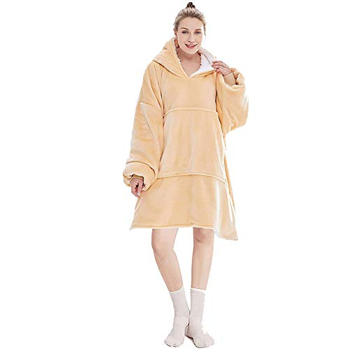 Oversized Hoodie Sweatshirt Blanket Super Soft Warm Comfortable Blanket Hoodie, One Size Fits All Men Women Girls, Boys 1