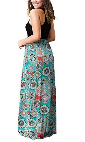 PCEAIIH Women's Casual Sleeveless/Long Sleeve Maxi Dress Loose Long Dresses with Pockets 3