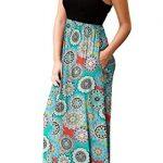 PCEAIIH Women's Casual Sleeveless/Long Sleeve Maxi Dress Loose Long Dresses with Pockets 13