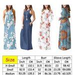 PCEAIIH Women's Casual Sleeveless/Long Sleeve Maxi Dress Loose Long Dresses with Pockets 14