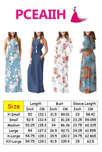 PCEAIIH Women's Casual Sleeveless/Long Sleeve Maxi Dress Loose Long Dresses with Pockets 5