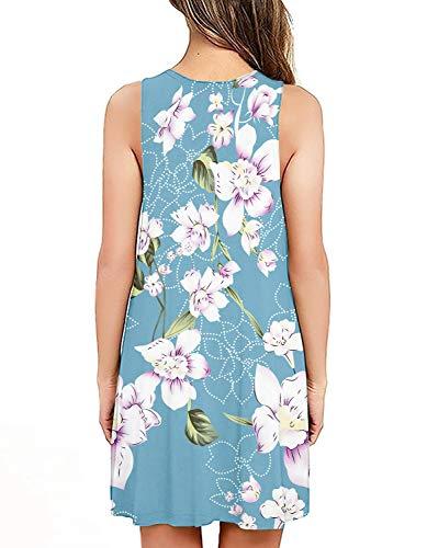 PCEAIIH Women's Sleeveless/Long Sleeve Pockets Casual Swing T-Shirt Summer Dress 3
