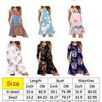 PCEAIIH Women's Sleeveless/Long Sleeve Pockets Casual Swing T-Shirt Summer Dress 11