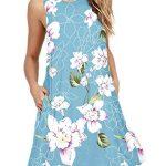 PCEAIIH Women's Sleeveless/Long Sleeve Pockets Casual Swing T-Shirt Summer Dress 9