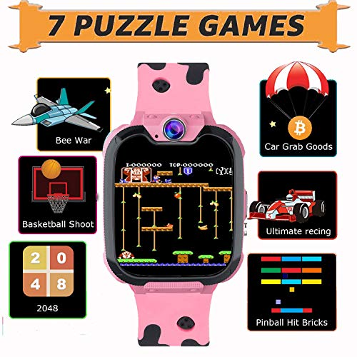 PTHTECHUS Kids Smart Watch for Boys Girls Phone Game Smart Watch for Kids [1GB Micro SD Included] Children Music Player… 6