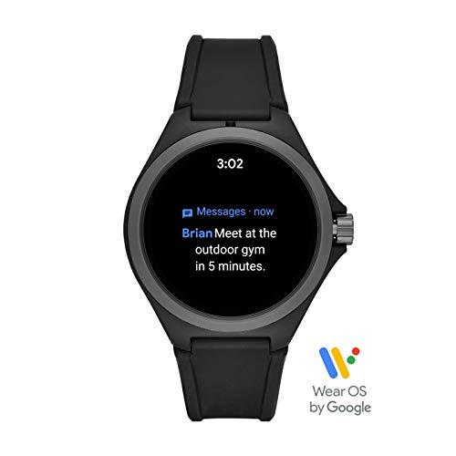 PUMA Sport - Men's 44mm Heart Rate Smartwatch, Black Silicone Band Lightweight Touchscreen - PT9100 6