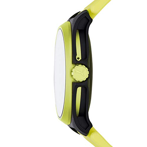 PUMA Sport - Men's 44mm Heart Rate Smartwatch, Neon Yellow Silicone Band Lightweight Touchscreen - PT9101 5