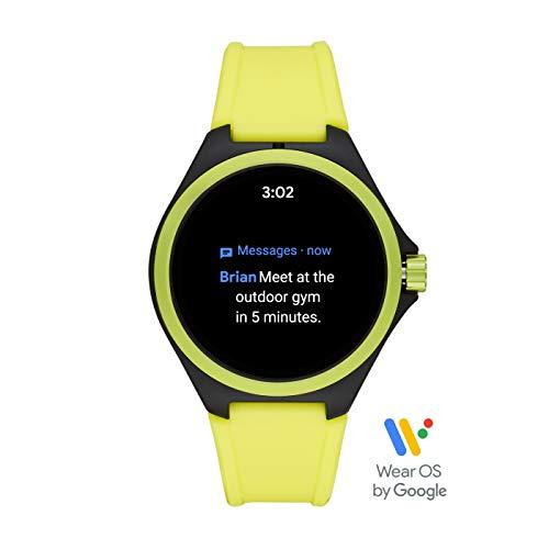 PUMA Sport - Men's 44mm Heart Rate Smartwatch, Neon Yellow Silicone Band Lightweight Touchscreen - PT9101 7