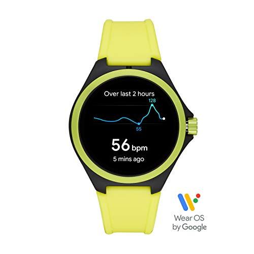 PUMA Sport - Men's 44mm Heart Rate Smartwatch, Neon Yellow Silicone Band Lightweight Touchscreen - PT9101 8