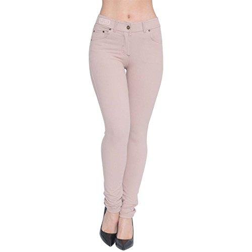 Womens Skinny Fit High Waist Stretchy Jeggings Ladies Zip Up Jeans Pants Legging 3