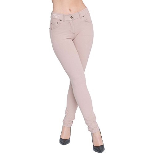 Womens Skinny Fit High Waist Stretchy Jeggings Ladies Zip Up Jeans Pants Legging 4
