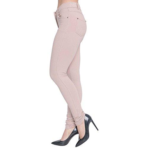 Womens Skinny Fit High Waist Stretchy Jeggings Ladies Zip Up Jeans Pants Legging 5