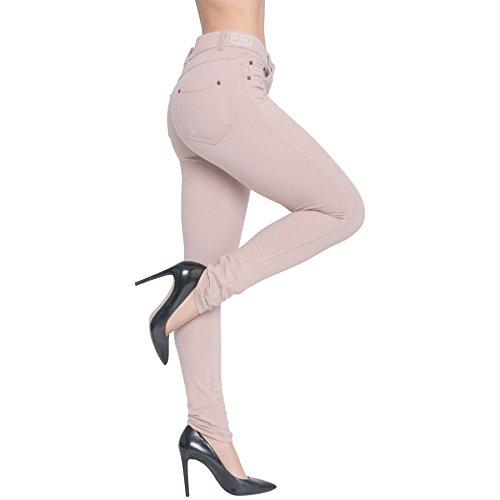Womens Skinny Fit High Waist Stretchy Jeggings Ladies Zip Up Jeans Pants Legging 1
