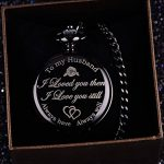 Pangda Pocket Watch Men Watch Engraved Pocket Watch to Gift for Husband on Anniversary 19