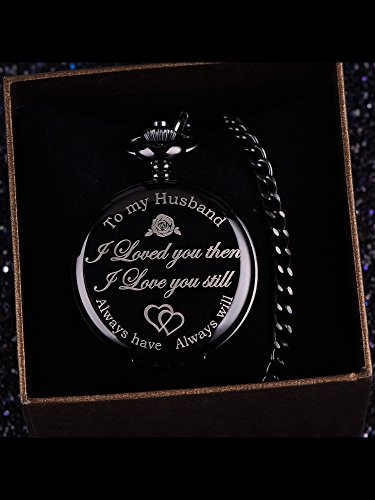 Pangda Pocket Watch Men Watch Engraved Pocket Watch to Gift for Husband on Anniversary 4