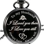 Pangda Pocket Watch Men Watch Engraved Pocket Watch to Gift for Husband on Anniversary 17