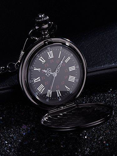 Pangda Pocket Watch Men Watch Engraved Pocket Watch to Gift for Husband on Anniversary 5