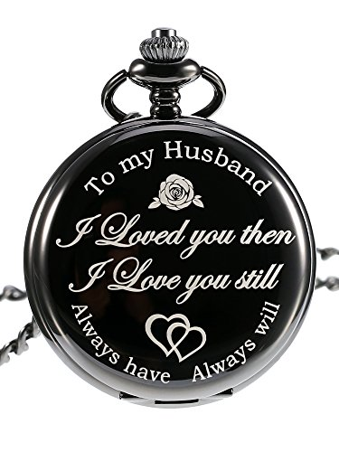 Pangda Pocket Watch Men Watch Engraved Pocket Watch to Gift for Husband on Anniversary 1