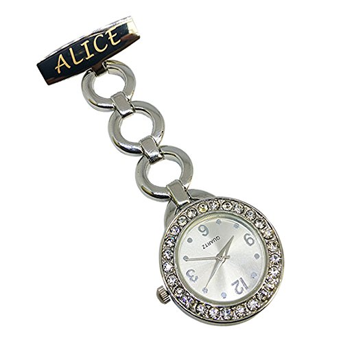 Personalised Engraved Nurse Watch Diamante Fob Carer Graduation Mothers Day Gift Custom Name Gift for Her 1