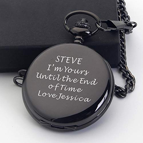 Personalised Engraved Pocket Watch Fathers Day Gift, Graduation End of Term Thank You Teacher Gift, Birthday, Wedding… 4