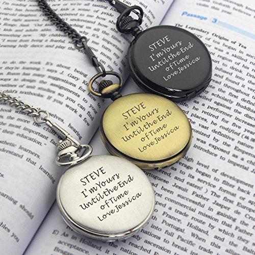 Personalised Engraved Pocket Watch Fathers Day Gift, Graduation End of Term Thank You Teacher Gift, Birthday, Wedding… 7