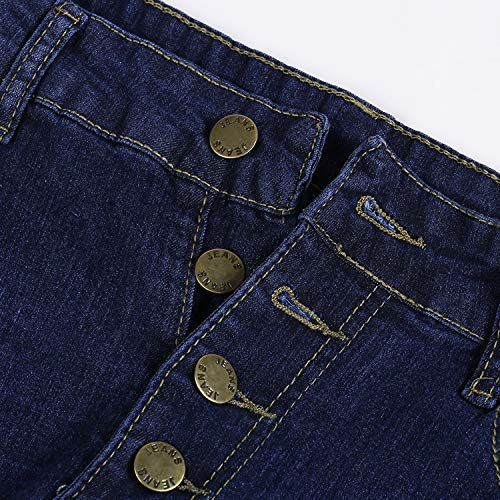 Petalum Women High Waist Skinny Solid Color Pants Slim Pencil Denim Jeans Trousers Slimming Butt Lifting 3