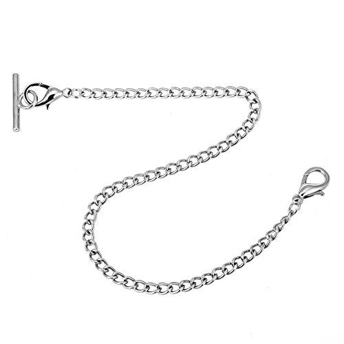 Pocket Watch Albert Vest Chain with T Bar & Lobster Clasps ManChDa Watch Chain Link & Pocket Watch Stand 5