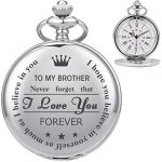 ManChDa Personalized Engraved Pocket Watch to Brother, Vintage Pocket Watches with Chain for Men,Anniversary & Birthday… 24
