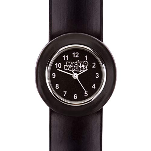 Popwatch Black Colour Slapwatch Fast Fit Kids Childrens Silicone Watch Band Learn to Tell The Time Unisex Instant Fit… 5