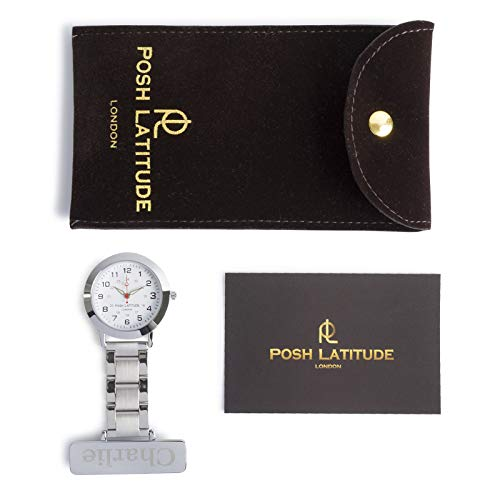 Posh Latitude Personalised Engraved Nurses Fob Watch with Gift Box – Quartz Hanging Pocket Watch for Men Women - Doctor… 7