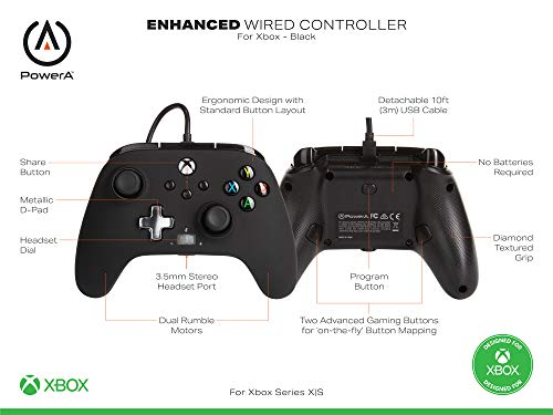 PowerA Enhanced Wired Controller for Xbox Series X|S - Arc Lightning, Gamepad, Wired Video Game Controller, Gaming… 5
