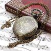Profusion Circle Retro Hollow Steam Train Antique Style Quartz Pocket Watch Necklace Gift 9