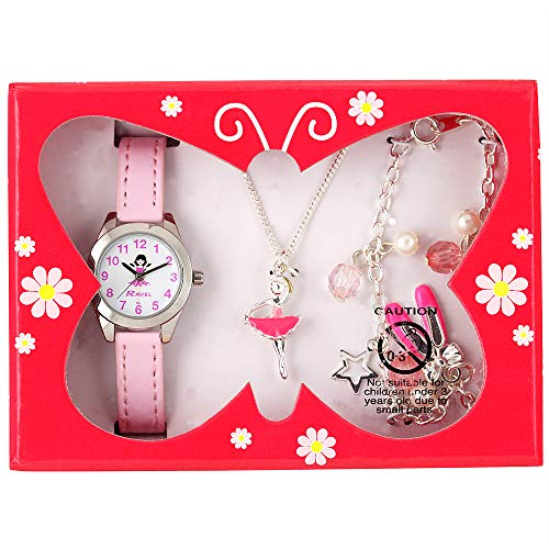Ravel Children's 'Little Gems' Watch and Silver Plated Jewellery Set 7