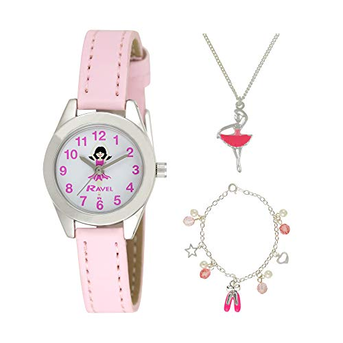 Ravel Children's 'Little Gems' Watch and Silver Plated Jewellery Set 1