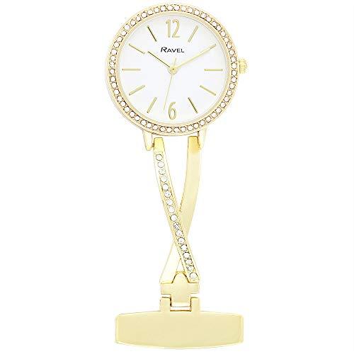 Ravel - Criss-Cross Diamante Nurses Fob Watch 1