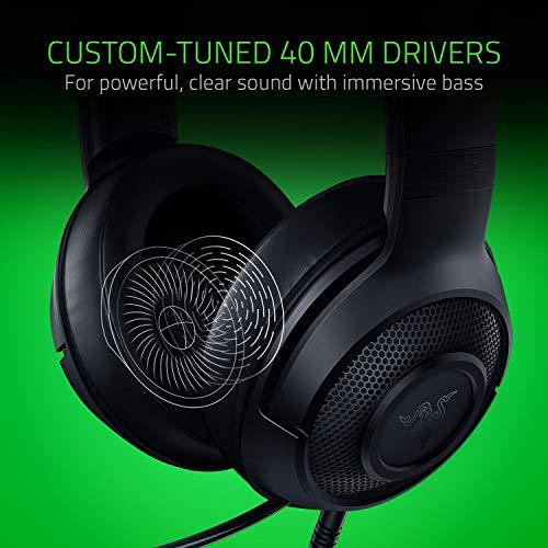 Razer Kraken X Gaming Headset - 7.1 Surround Sound - Ultra-light - Classic Black 4