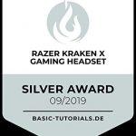 Razer Kraken X Gaming Headset - 7.1 Surround Sound - Ultra-light - Classic Black 24